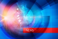Graphical news studio background with digital binary codes concept series. Graphical news studio background with digital binary codes. 3d illustration royalty free illustration