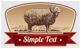 Graphical Ram, Sheep Royalty Free Stock Photos