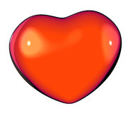 Graphical render of a shiny red love heart Royalty Free Stock Images