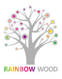 Rainbow wood. Stock Images