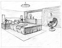 Graphical sketch Stock Photos