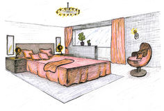 Graphical sketch royalty free illustration