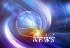 Graphical Sport News Background  Concept Series 69 Stock Photo