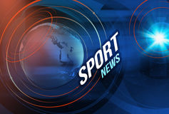 Graphical Sport News background. Graphical digital sport news background with news text Stock Image