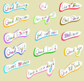 Graphical text and wording in handwriting illustra Royalty Free Stock Photography