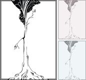 Graphical tree. Monochrome graphic tree for design royalty free illustration