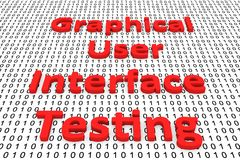 Graphical user interface testing Stock Photography
