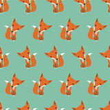 Graphically foxes pattern Royalty Free Stock Photo