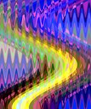 Graphics, blue yellow abstract lights, abstract background stock photography