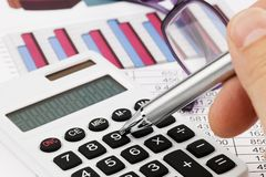 Graphics calculator and a balance sheet