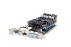 Graphics card equipped with heat sink without fan Royalty Free Stock Images