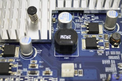 Graphics card PCB details. Top view Royalty Free Stock Photos