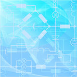 Graphics, chart and formulas of electricity. Vector illustration Royalty Free Stock Image