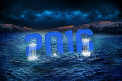 Graphics. Colors blue black new year 2016 Royalty Free Stock Photos