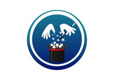 Magician Hat logo concept royalty free illustration