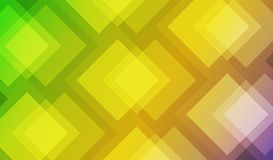 Graphics design, geometric abstract background Vector illustration. Yellow and green tones.  Stock Images