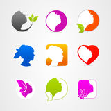 Graphics design icon face set web Royalty Free Stock Image