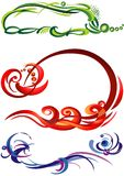 Graphics, drawing. Graphics, design of flowing lines and color spots Royalty Free Stock Photography