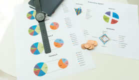 Graphics and finance report Stock Photography