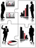 Graphics For Finance With Business People Stock Photography