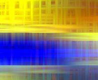 Gold blue colors, geometries lights, abstract background stock image