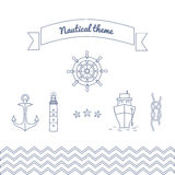 Graphics on the marine theme. Royalty Free Stock Photography