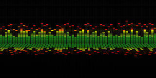 Graphics of music equalizer Royalty Free Stock Images