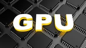 Graphics processing unit (GPU) Stock Photo