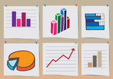 Graphics of stock charts Royalty Free Stock Images