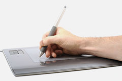 Graphics tablet & hand Stock Image