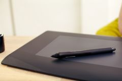Graphics Tablet And Pen Stock Photos