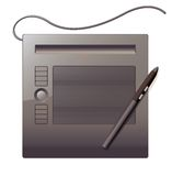 Graphics tablet. Top view Stock Photos