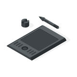 Graphics tablet vector illustration Royalty Free Stock Images