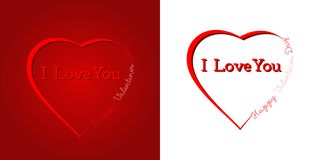 Happy Valentine`s Day - Love, Heart, Happiness royalty free illustration