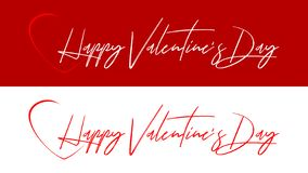 Happy Valentine`s Day - wishes from the heart royalty free illustration