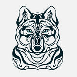Graphics wolf's head Stock Image