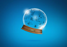 Graphin snow-dome Stock Images