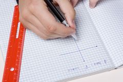 Graphing Royalty Free Stock Photography