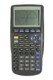 Graphing calculator on white with clipping path Royalty Free Stock Images