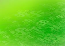 Graphique abstrait de fond de symbole dollar Photo libre de droits