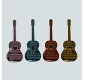 Graphique art6 de guitare Images libres de droits