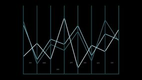 Graphique cartésien animé de données du même rang illustration de vecteur