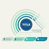 Graphique circulaire, 4 étapes et en-tête de cercle Photographie stock libre de droits