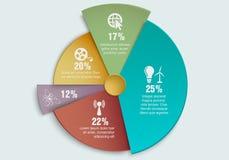 Graphique circulaire d'affaires colorées Images libres de droits