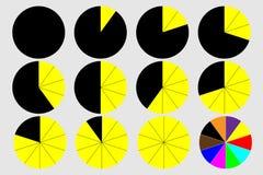 Graphique circulaire - vecteur Photos libres de droits