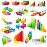 graphique coloré d'affaires illustration de vecteur