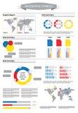 Graphique créatif d'infos avec les figurines humaines et les données de statistique Photo stock