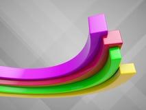 Graphique croissant de couleur Image stock