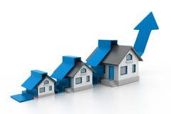 Graphique croissant de vente à la maison Image libre de droits