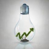 Graphique croissant vert Photo stock